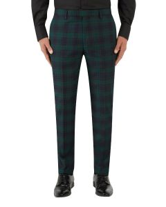 Sanchez Suit Slim Trouser Navy / Green Check