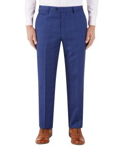 Aquino Suit Trouser Blue Check