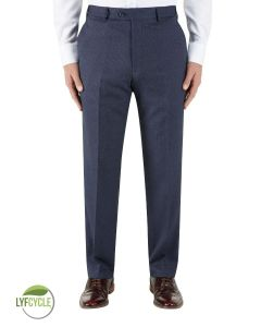 Gambino Suit Tailored Trouser Navy Birdseye