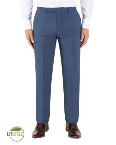 Morelli Suit Tailored Trouser Blue Check