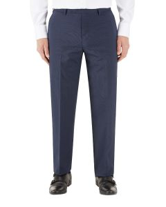 Persico Suit Trouser Navy Micro Check