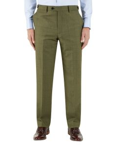 Moonen Suit Trouser Olive Check