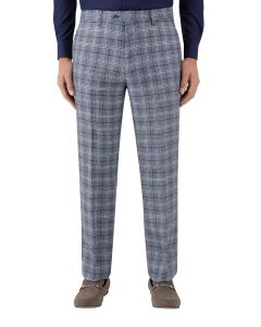 Camini Suit Tailored Trouser Blue Check