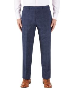 Torrente Check Suit Trouser Navy Check