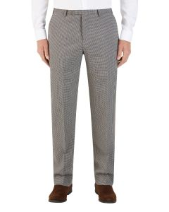 Danko Suit Slim Trouser Brown Navy Puppytooth