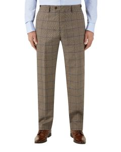 Welburn Suit Slim Trouser Brown Check