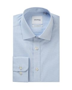 Blue / White Check Formal Shirt
