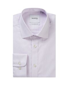 Lilac / White Stripe Formal Shirt