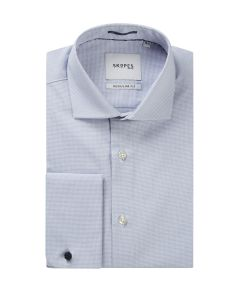 Blue Basketweave Formal Shirt