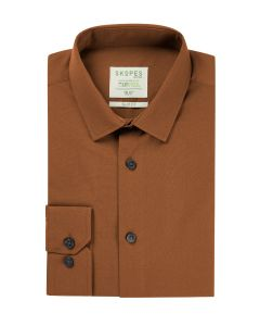 Lyfcycle Slim Formal Shirt Rust
