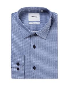 Slim Formal Shirt Blue Geo