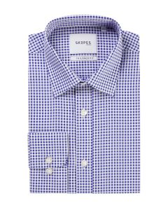 Tailored Formal Shirt Navy Gingham