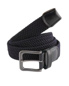 Stretch Webbing Navy Belt