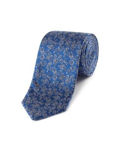 Blue Abstract Floral Tie