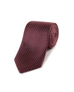 Wine Geo Silk Tie