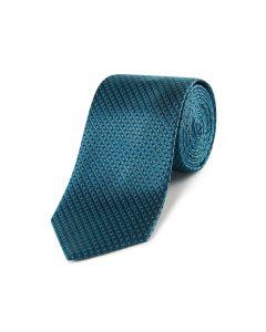Teal Geo Silk Tie