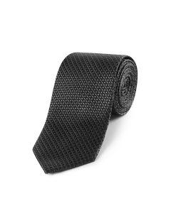 Dark Grey Geo Silk Tie