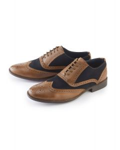 Tan / Navy Brogue Shoe
