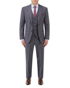 Crawford Suit Blue POW Check