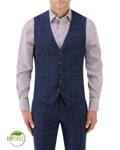 Suddard Suit Waistcoat Navy Check