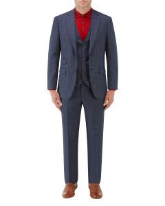 Woolf Suit Navy Check