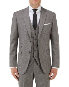 Callan Suit Jacket Grey / Red Puppytooth