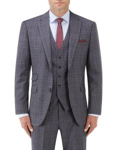 Crawford Suit Jacket Blue POW Check