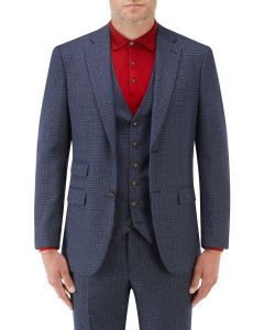 Woolf Suit Jacket Navy Check