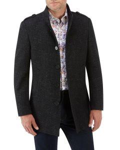 Newington Textured Coat Black