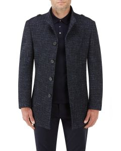 Newington Textured Coat Navy