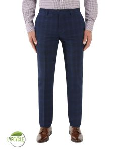 Suddard Suit Trouser Navy Check