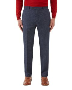 Woolf Suit Slim Trouser Navy Check