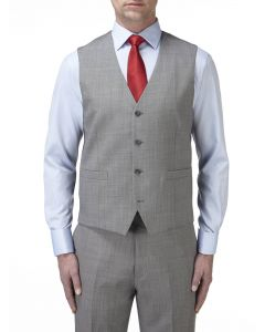 Palmer Suit Waistcoat Silver
