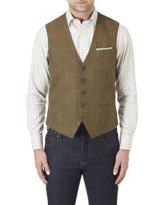Montrose Waistcoat Brown Check