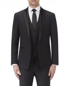 Newman Dinner Suit Jacket Black Check