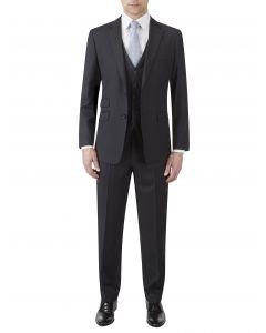 Loftus Wool Suit Black Stripe