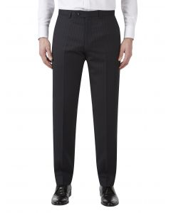 Loftus Wool Suit Trouser Black Stripe
