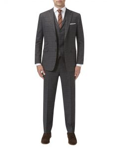 Connor Suit Charcoal Check