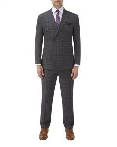 Desmond DB Suit Charcoal Check