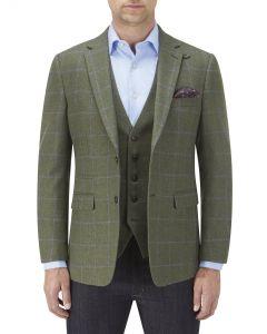 Elgin Jacket Olive Check