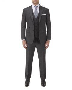 Denzel Suit Charcoal Check