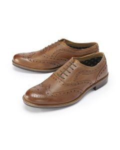 Tan Country Brogue Shoes