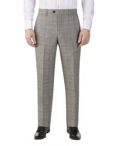 Mazara Check Suit Trouser Grey Check