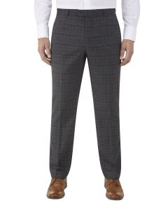 Lynham Suit Tailored Trousers Charcoal Check