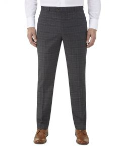 Lynham Suit Slim Trousers Charcoal Check