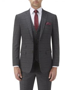 Lynham Suit Jacket Charcoal Check