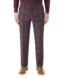 Garfield Suit Tailored Trouser Red Check