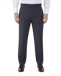 Staunton Suit Tailored Trouser Navy Check