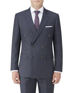 Staunton DB Suit Jacket Navy Check