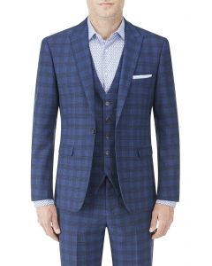 Felix Suit Tailored Jacket Blue Check
